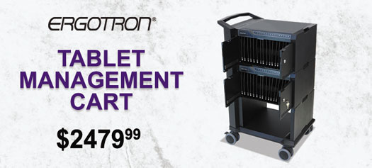 Ergotron - Tablet Management Cart with ISI for 32 Devices