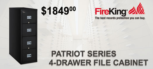FireKing - Patriot Series 4-Drawer with 1-hour fire rating